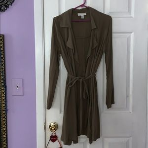 Forever 21 PLUS SIZE XL olive green trench